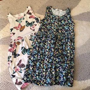 Pair of H&M dresses sz 6-8